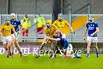 Peter Slevin, Meath in action against Keith Keoghan, Meath during the Round 1 meeting of Kerry and Meath in the Joe McDonagh Cup at Austin Stack Park in Tralee on Sunday.