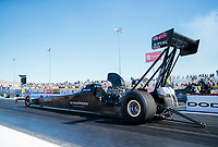 Nov 1, 2019; Las Vegas, NV, USA; NHRA top alcohol dragster driver Jasmine Salinas during qualifying for the Dodge Nationals at The Strip at Las Vegas Motor Speedway. Mandatory Credit: Mark J. Rebilas-USA TODAY Sports
