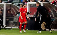 CARSON, CA - FEBRUARY 07: Jessie Fleming #17 of Canada during a game between Canada and Costa Rica at Dignity Health Sports Complex on February 07, 2020 in Carson, California.