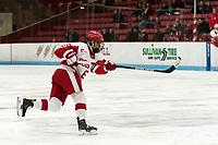 BOSTON, MA - JANUARY 04: Nadia Mattivi #6 of Boston University scores during a game between University of Maine and Boston University at Walter Brown Arena on January 04, 2020 in Boston, Massachusetts.