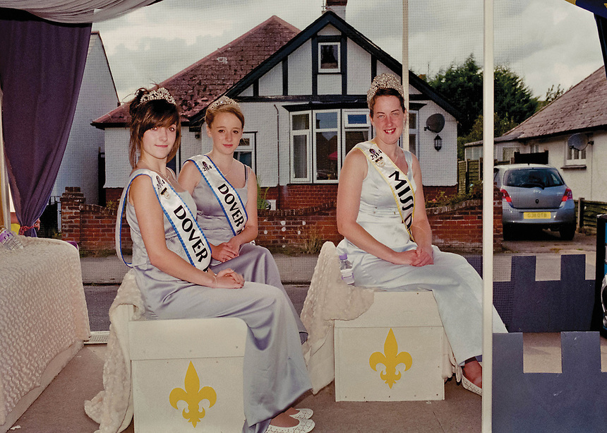 """Queen of Dover & National Carnival Guild Queen, Leah Westwood accompanied by Princess Kit Leigh and Princess Morganne Ivory.<br /> <br /> """"Why is it u wear ur heart on ur sleeve to people then they get ur hopes up and then tell u that it's not working out or let u down?"""""""