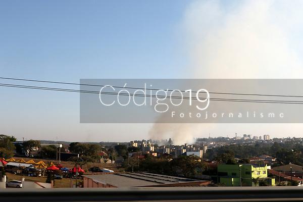 CAMPINAS, SP 11.07.2019 - CLIMA - Queimadas vista na cidade de Campinas (SP), na tarde desta quinta-feira (11). (Foto: Denny Cesare/Código19)