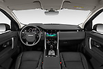 Stock photo of straight dashboard view of a 2020 Land Rover Discovery Sport S 5 Door SUV