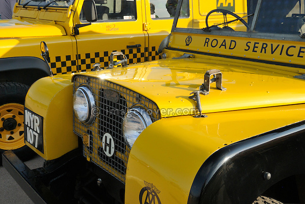 AA Road Service Land Rover Series 1 80in on show at the Gaydon Heritage Land Rover Show 2006. Europe, England, UK. --- No releases available. Automotive trademarks are the property of the trademark holder, authorization may be needed for some uses.