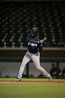 AZL Brewers second baseman Edwin Sano (8) at bat during an Arizona League game against the AZL Cubs 1 at Sloan Park on June 29, 2018 in Mesa, Arizona. The AZL Cubs 1 defeated the AZL Brewers 7-1. (Zachary Lucy/Four Seam Images)