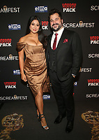 HOLLYWOOD, CA - OCTOBER 12: Amber Kellehan, Alex Montilla, at the 21st Screamfest Opening Night Screening Of The Retaliators at Mann Chinese 6 Theatre in Hollywood, California on October 12, 2021. Credit: Faye Sadou/MediaPunch