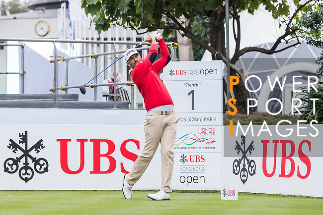 Gregory Havret of France tees off during the day four of UBS Hong Kong Open 2017 at the Hong Kong Golf Club on 26 November 2017, in Hong Kong, Hong Kong. Photo by Yu Chun Christopher Wong / Power Sport Images