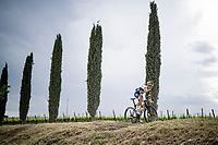 """Quinten Hermans (BEL/Intermarché-Wanty Gobert) over the final gravel sector of the day.<br /> <br /> 104th Giro d'Italia 2021 (2.UWT)<br /> Stage 11 from Perugia to Montalcino (162km)<br /> """"the Strade Bianche stage""""<br /> <br /> ©kramon"""