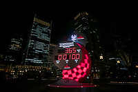 24th August 2020, Tokyo, Japan;  a countdown clock displaying 365 days to go until the start of the postponed Tokyo 2020 Paralympic Games in Tokyo, Japan.