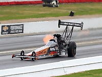 May 5, 2018; Commerce, GA, USA; NHRA top fuel driver Clay Millican during qualifying for the Southern Nationals at Atlanta Dragway. Mandatory Credit: Mark J. Rebilas-USA TODAY Sports