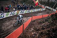 Michael Vanthourenhout (BEL/Marlux-Bingoal) on his way to a silver medal<br /> <br /> Elite Men's Race<br /> UCI CX Worlds 2018<br /> Valkenburg - The Netherlands