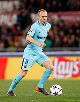 FC Barcelona Andres Iniesta in action during the Uefa Champions League quarter final second leg football match between AS Roma and FC Barcelona at Rome's Olympic stadium, April 10, 2018.<br /> UPDATE IMAGES PRESS/Riccardo De Luca