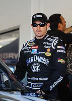 Feb 11, 2009; Daytona Beach, FL, USA; NASCAR Sprint Cup Series driver Casey Mears during practice for the Daytona 500 at Daytona International Speedway. Mandatory Credit: Mark J. Rebilas-