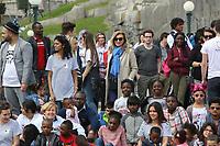 VALERIE TRIERWEILER - LE SECOURS POPULAIRE A DISNEYLAND PARIS, FRANCE, LE 04/04/2017.