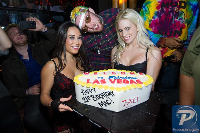 Hip hop artist, Mac Miller at celebrates his 21st birthday at TAO Nightclub, Las Vegas, January 19, 2013  © Al Powers, PowersImagery / Invision / AP