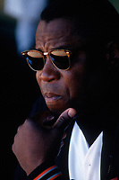 SAN FRANCISCO, CA:  Manager Dusty Baker of the San Francisco Giants sits in the dugout during a game at Candlestick Park in San Francisco, California on September 11, 1993. (Photo by Brad Mangin)