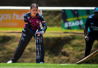 Northern's Felicity Leydon-Davis runs out Central's Georgia Atkinson during the women's Dream11 Super Smash T20 cricket match between the Central Hinds and Northern Spirit at Pukekura Park in New Plymouth, New Zealand on Wednesday, 30 December 2020. Photo: Dave Lintott / lintottphoto.co.nz