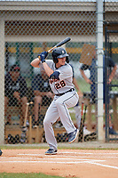 Detroit Tigers Corey Joyce (28) at bat during an Instructional League instrasquad game on September 20, 2019 at Tigertown in Lakeland, Florida.  (Mike Janes/Four Seam Images)