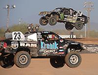 Apr 17, 2011; Surprise, AZ USA; LOORRS driver Jeremy McGrath (2) and John Gaston (23) during round 4 at Speedworld Off Road Park. Mandatory Credit: Mark J. Rebilas-