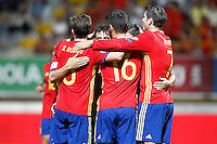Spain's players celebrate goal during FIFA World Cup 2018 Qualifying Round match. September 5,2016.(ALTERPHOTOS/Acero) /NORTEPHOTO