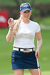 CHON BURI, THAILAND - FEBRUARY 17:  Morgan Pressel of USA acknowledges to the crowd on 15th green during day one of the LPGA Thailand at Siam Country Club on February 17, 2011 in Chon Buri, Thailand.  Photo by Victor Fraile / The Power of Sport Images