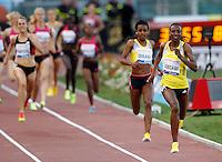 Golden Gala di atletica leggera allo stadio Olimpico di Roma, 6 giugno 2013.<br /> Sweden's Abeba Aregawi runs on her way to win the women's 1500 meters at the Golden Gala IAAF athletics meeting at Rome's Olympic stadium, 6 June 2013.<br /> UPDATE IMAGES PRESS/Riccardo De Luca