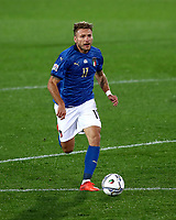Italy's Ciro Immobile in action during the UEFA Nations League football match between Italy and Netherlands at Bergamo's Atleti Azzurri d'Italia stadium, October 14, 2020.<br /> UPDATE IMAGES PRESS/Isabella Bonotto