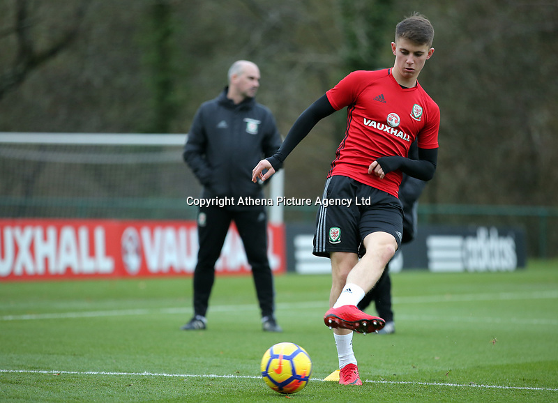 Ben Woodburn in action during the Wales Training Session at The Vale Resort, Wales, UK. 06 November 2017