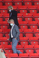 West Ham Manager, David Moyes and his Assistant, Alan Irvine, head for the exit during Charlton Athletic vs Wigan Athletic, Sky Bet EFL Championship Football at The Valley on 18th July 2020