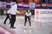 SPEEDSKATING: HAMAR: 01-03-2020, ISU World Speed Skating Championships, Allround, 1500m Ladies, Johan de Wit (Coach Japan), Ayano Sato (JPN), ©photo Martin de Jong