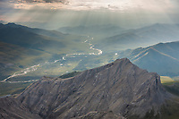 Aerial of your creek in the Philip Smith Mountains in the Arctic National Wildlife Refuge, Brooks Range mountains, Alaska.