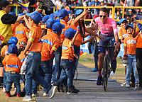 TUNJA - COLOMBIA, 11-02-2020: Rigiberto Uran (COL) del equipo EF EDUCATION FIRST durante la primera del Tour Colombia 2.1 2020 que se correrá en Boyacá, Colombia entre el 11 y 16 de febrero de 2020. / Rigoberto Uran (COL) of team EF EDUCATION FIRST during the launch of Tour Colombia 2.1 2020 that that will run between February 11 and 16, 2020 in Boyacá, Colombia.  Photo: VizzorImage / Darlin Bejarano / Cont