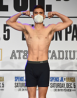 DALLAS, TX - DECEMBER 4: Isaac Avelar attends the weigh-in for the Errol Spence Jr. vs Danny Garcia December 5, 2020 Fox Sports PBC Pay-Per-View fight night at AT&T Stadium in Arlington, Texas. (Photo by Frank Micelotta/Fox Sports)