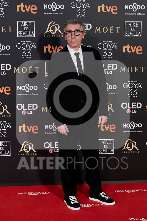 David Trueba attends to 33rd Goya Awards at Fibes - Conference and Exhibition  in Seville, Spain. February 02, 2019. (ALTERPHOTOS/A. Perez Meca)