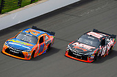 NASCAR XFINITY Series<br /> Lilly Diabetes 250<br /> Indianapolis Motor Speedway, Indianapolis, IN USA<br /> Saturday 22 July 2017<br /> Erik Jones, GameStop/Nerf Toyota Camry and Kyle Busch, NOS Energy Drink Rowdy Toyota Camry<br /> World Copyright: Nigel Kinrade<br /> LAT Images