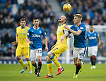 Rangers v St Johnstone…16.12.17…  Ibrox…  SPFL<br />Denny Johnstone battles with Ross McCrorie<br />Picture by Graeme Hart. <br />Copyright Perthshire Picture Agency<br />Tel: 01738 623350  Mobile: 07990 594431
