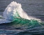 This wave is breaking on an offshore rock west of Van Damme Beach, south of Mendocino.