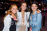 Enjoying the evening in Killarney on Thursday, l to r: Ally Cronin, Lia Farley and Sophie Lee from Faha Killarney.