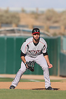 Yale Rosen (28) of the Lake Elsinore Storm in the field at first base during a game against the Lancaster JetHawks at The Hanger on May 9, 2015 in Lancaster, California. Lancaster defeated Lake Elsinore, 3-1. (Larry Goren/Four Seam Images)