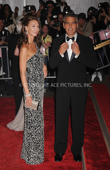 WWW.ACEPIXS.COM . . . . . ....May 5 2008, New York City....Model Sarah Larson and actor George Clooney arriving at the Metropolitan Museum of Art Costume Institute Gala, Superheroes: Fashion and Fantasy, held at the Metropolitan Museum of Art on the Upper East Side of Manhattan.....Please byline: KRISTIN CALLAHAN - ACEPIXS.COM.. . . . . . ..Ace Pictures, Inc:  ..(646) 769 0430..e-mail: info@acepixs.com..web: http://www.acepixs.com
