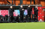 Dundee United v St Johnstone…12.01.21   Tannadice     SPFL<br />United manager Micky Mellon leads the applause in memory of Jim McLean<br />Picture by Graeme Hart.<br />Copyright Perthshire Picture Agency<br />Tel: 01738 623350  Mobile: 07990 594431
