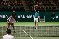 Rotterdam, The Netherlands, 14 Februari 2019, ABNAMRO World Tennis Tournament, Ahoy, Semis, Doubles, Marcel Granollers (ESP) Nikola Mektic (CRO),<br /> Photo: www.tennisimages.com/Henk Koster