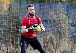 St Johnstone Training….06.10.20     <br />Zander Clark pictured during training at McDiarmid Park this morning ahead of tomorrow nights Betfred Cup game against Kelty Hearts.<br />Picture by Graeme Hart.<br />Copyright Perthshire Picture Agency<br />Tel: 01738 623350  Mobile: 07990 594431