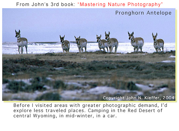 "From John's 3rd book: ""Mastering Nature Photography."" There's still lots of wild camping in Wyoming, drive down just about any dirt road. Plan on sleeping in your car, it's pretty rough around here.<br />