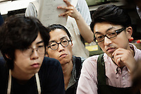 Students at Sarukawa Footwear College