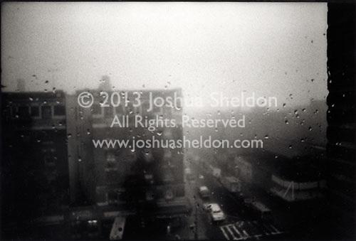 Rainy day in Washington Heights<br />