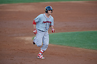 Pawtucket Red Sox first baseman Steve Selsky (20) rounds the bases after hitting a home run during a game against the Scranton/Wilkes-Barre RailRiders on May 15, 2017 at PNC Field in Moosic, Pennsylvania.  Scranton defeated Pawtucket 8-4.  (Mike Janes/Four Seam Images)
