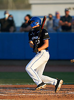IMG Academy Ascenders Stone Russell (13) bats during a game against the Jesuit Tigers on April 21, 2021 at IMG Academy in Bradenton, Florida.  (Mike Janes/Four Seam Images)
