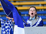 A Kilkee/Kilbaha fan during their Schools Division 6 final at Cusack Park. Photograph by John Kelly