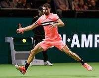 Rotterdam, The Netherlands, 18 Februari, 2018, ABNAMRO World Tennis Tournament, Ahoy, Singles final, Roger Federer (SUI), Grigor Dimitrov (BUL)<br /> <br /> Photo: www.tennisimages.com